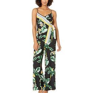 Donna Morgan Fit & Flare Wrap Floral Jumpsuit 8